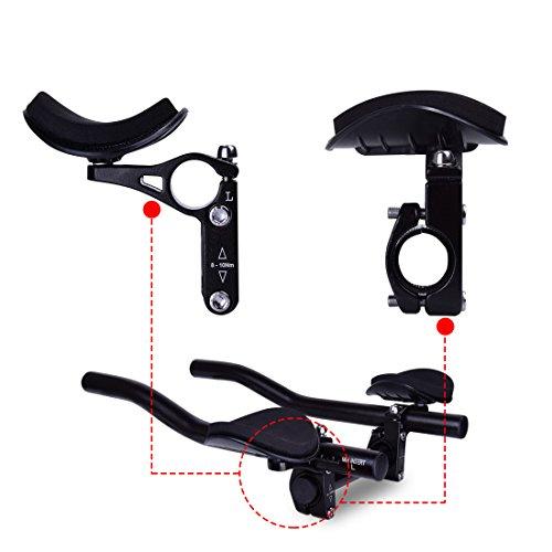 Hotgod - Extension du support avec accès pour le guidage aérien - Barres de triathlon, de contre-la-montre et de triathlon...