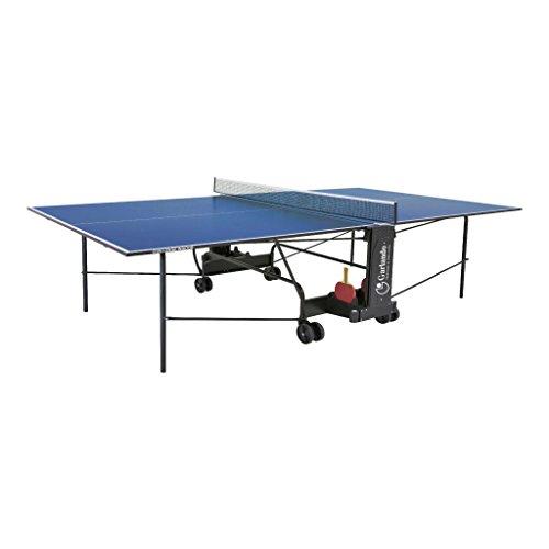 Garlando Table Ping Pong Challenge Intérieur avec roue intérieure bleue