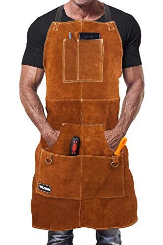 Tablier de soudage de qualité supérieure en cuir...
